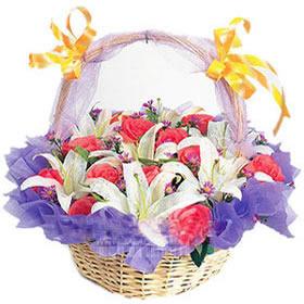 12枝粉玫瑰/祝福之花