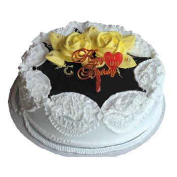 巧克力蛋糕/黄玫瑰(8寸)