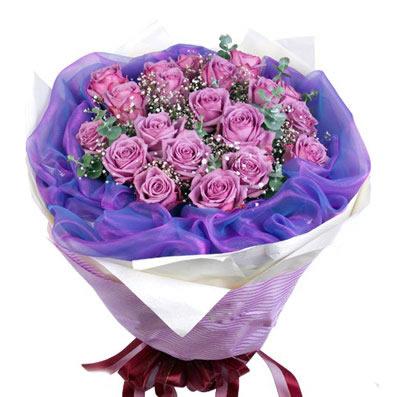18枝紫玫瑰/玫瑰情话