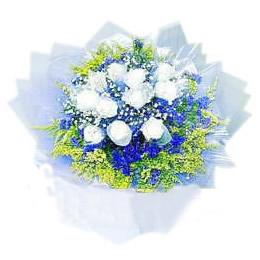 11枝白玫瑰/悠悠我心