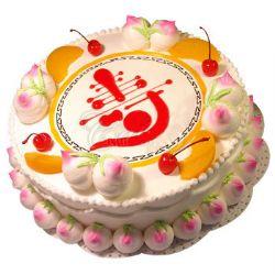 祝壽蛋糕/仙桃祝壽(8寸): 水果奶油夾心