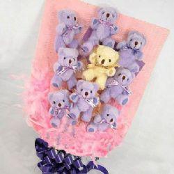 9只小熊/紫想你: 9只可愛彩色小熊(絨毛熊、糖果等以當地分店實物為準,圖片僅供參考)