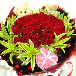99枝紅玫瑰/倆倆相依
