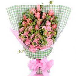 15支粉色康乃馨/永恒的故事