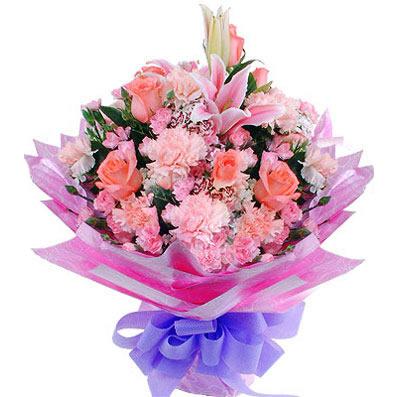 9支粉色康乃馨/幸福时光