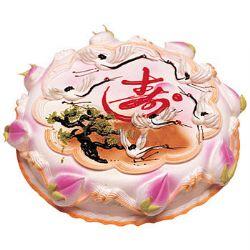 祝寿蛋糕/松鹤长春(8寸): 鲜奶蛋糕