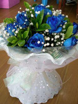 11枝藍色妖姬/甜密的愛