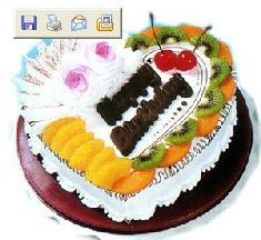 水果蛋糕/生日快乐(8寸)