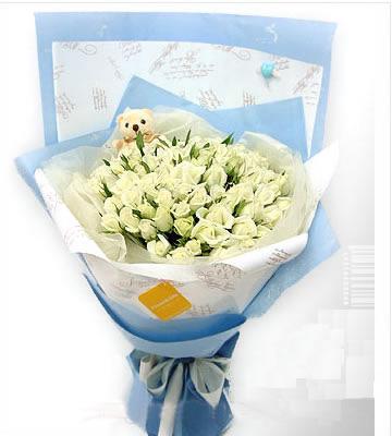99枝白玫瑰/思念