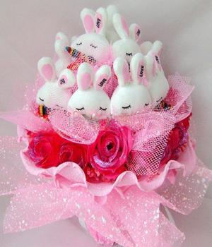 11只LOVE兔子/想念