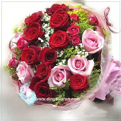 21枝玫瑰/鸟语花香
