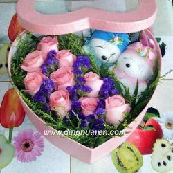 9枝粉玫瑰/爱的祈祷