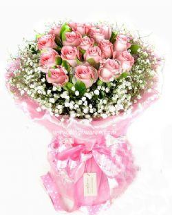 21枝粉玫瑰/风中的秘密