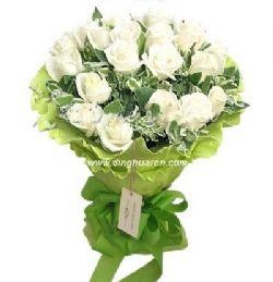 19枝白玫瑰/风情万种