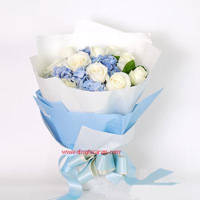 12枝白玫瑰/深深的情