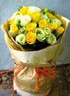 11枝黄玫瑰/佳期如梦
