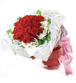 21枝�t玫瑰/思念如�L