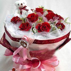 11枝红玫瑰/心只有你