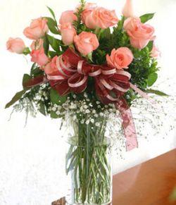 18枝粉玫瑰/缘牵一生