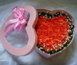 33枝粉玫瑰/愛你在心