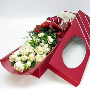 21枝白玫瑰/用心�勰�