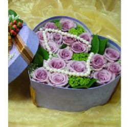 19枝紫玫瑰/心屬于你