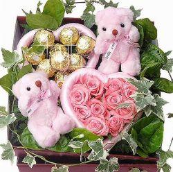 11枝粉玫瑰/心中最美