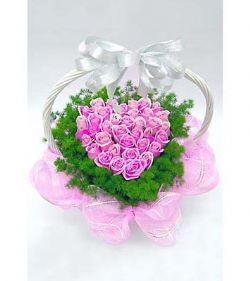 38枝紫玫瑰/多彩情��