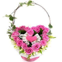 26枝粉玫瑰/想念情怀