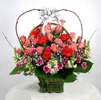 22枝粉玫瑰/爱情华尔兹