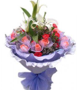 16朵粉玫瑰/今生有爱