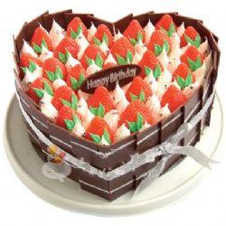 鲜奶水果蛋糕/莓飞色舞(8寸)