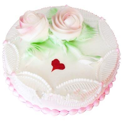 鲜奶蛋糕/盛开的玫瑰(8寸)