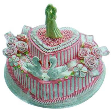 创意两层可爱蛋糕