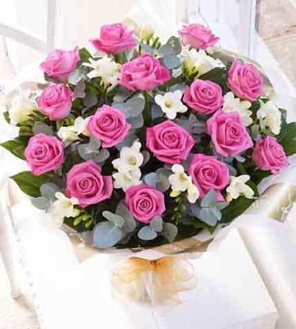 15枝紫玫瑰/爱你
