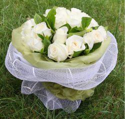 24枝白玫瑰/水晶恋人