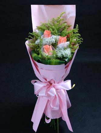 3枝粉玫瑰/我爱你
