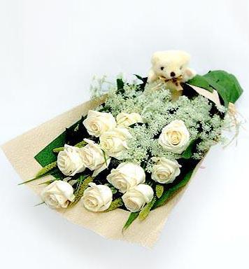 11枝白玫瑰/我的心上人