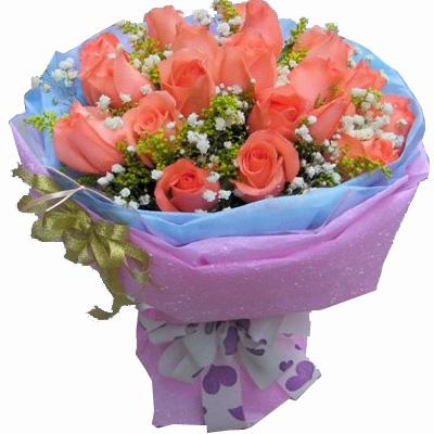 18枝粉玫瑰/我们的约定