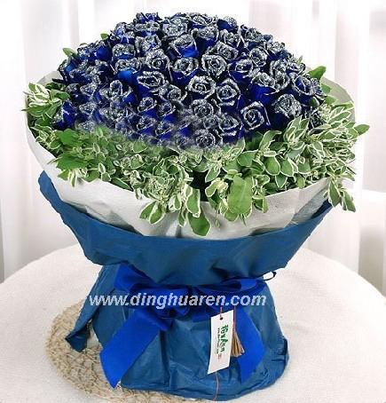 99枝蓝玫瑰/蓝月光