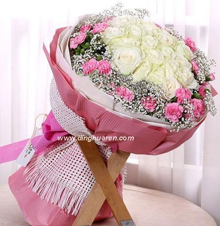 19枝白玫瑰/花�A�F人