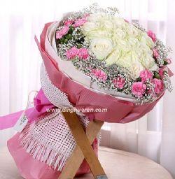 19枝白玫瑰/花倾贵人
