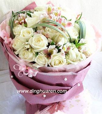 25枝白玫瑰/�勰闶蔷�