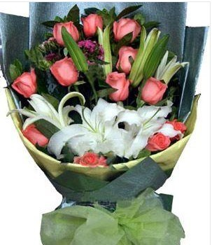 12枝粉玫瑰/我爱您妈妈