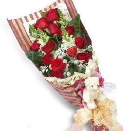 12枝�t玫瑰/�鄣男�律