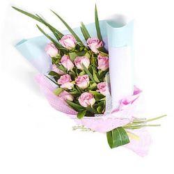 12枝粉玫瑰/情记心间