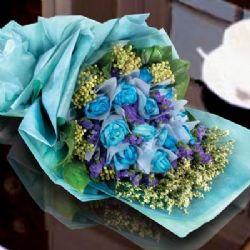 12枝蓝玫瑰/你是唯一