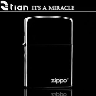 原装专柜正品ZIPPO防风打火机 限量黑冰标志 经典款