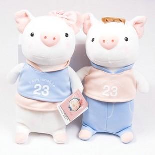 批发超值一对/正版METOO莉莉猪~可爱情侣猪猪毛绒公仔娃娃~