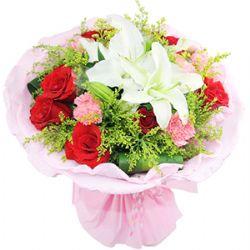 9枝�t玫瑰/你的微笑